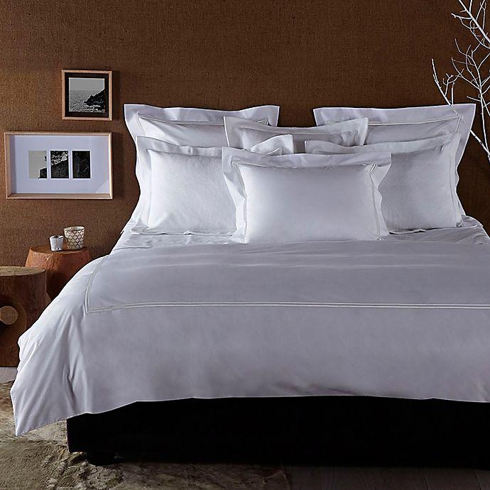 Alternate image 1 for Frette At Home Piave King Duvet Cover in White
