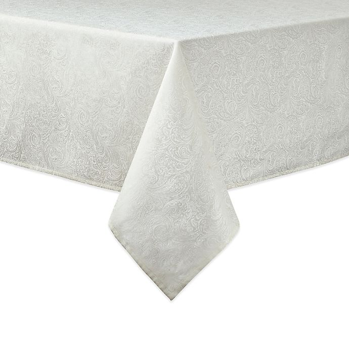 Alternate image 1 for Waterford® Linens Chelsea 70-Inch x 84-Inch Oblong Tablecloth in Cream
