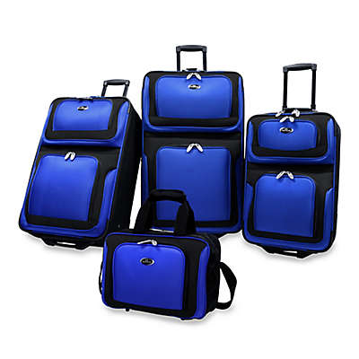 U.S. Traveler New Yorker 4-Piece Wheeled Luggage Set