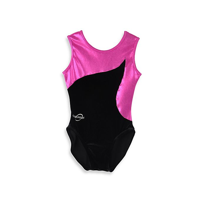 Alternate image 1 for Obersee Size XX-Small Kids Gymnastics Leotard in Pink Flow