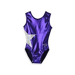 Obersee Kids Gymnastics Leotard in Purple Star