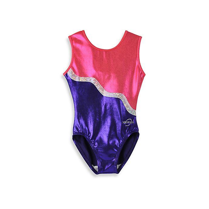 Alternate image 1 for Obersee Size XX-Small Kids Gymnastics Leotard in Purple Ribbon