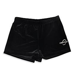Obersee Kids Gymnastics Shorts in Black Velvet
