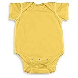 i play.® Brights Organic Cotton Short-Sleeve Adjustable Bodysuit in Yellow