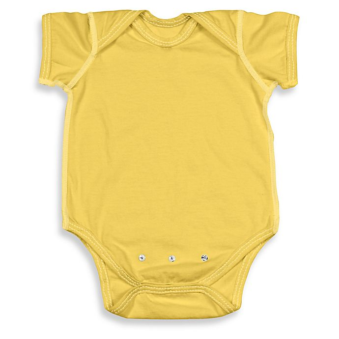 99d5e92381 Brights Size 18-24M Organic Cotton Short-Sleeve Adjustable Bodysuit in  Yellow