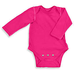 i play.® Brights Organic Cotton Long-Sleeve Adjustable Bodysuit in Fuchsia