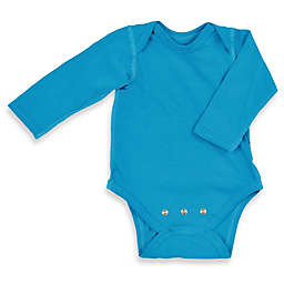 i play.® Brights Organic Cotton Long-Sleeve Adjustable Bodysuit in Aqua