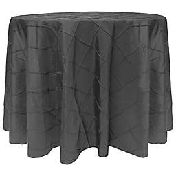 Ultimate Textile Bombay Diamond Stitched 90-Inch Round Tablecloth in Steel