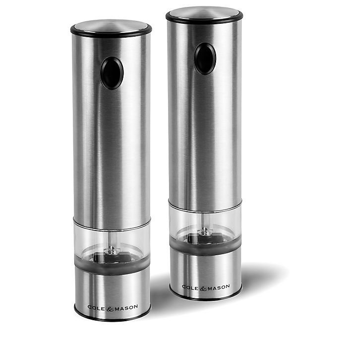 Alternate image 1 for Cole & Mason Battersea Battery-Operated Electric Salt & Pepper Mill Gift Set