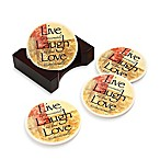 Words to Live By Round Coasters (Set of 4)