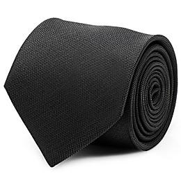 Silk Woven Tie in Black