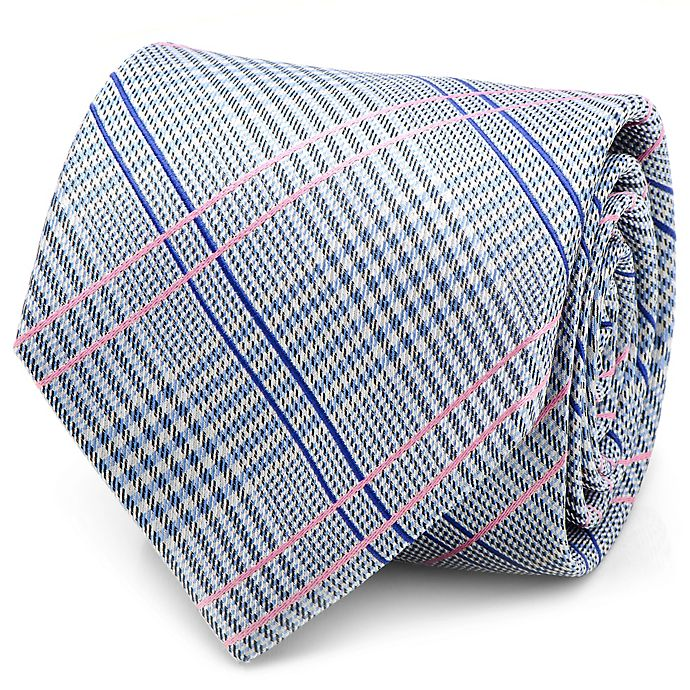Alternate image 1 for Silk Glen Plaid Tie in Blue/Pink