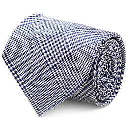 Silk Glen Plaid Tie in Blue