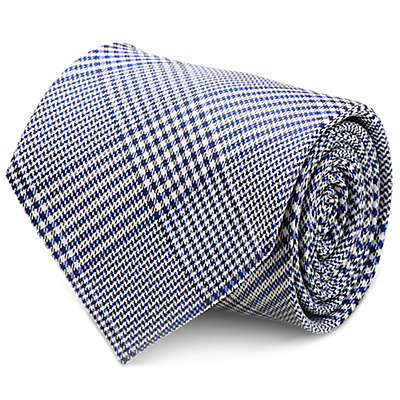 Silk Glen Plaid Tie in Blue