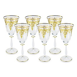Classic Touch 8-Inch Wine Glasses (Set of 6)