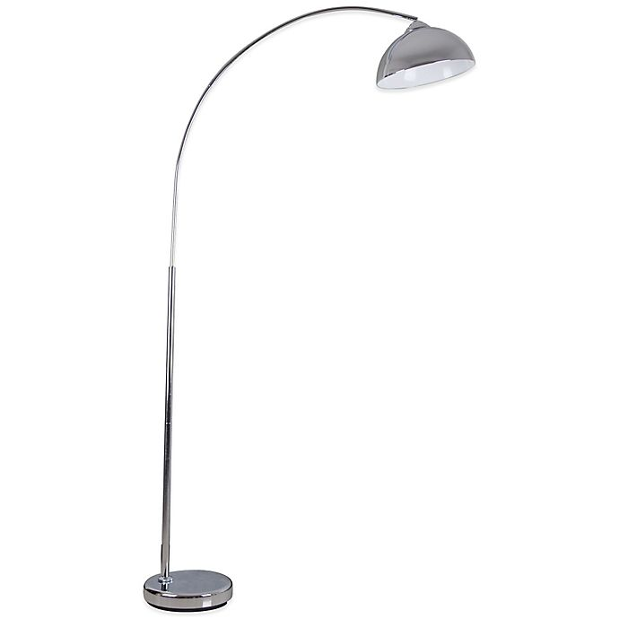 Illuminada Over The Sofa Arc Floor Lamp In Chrome Bed