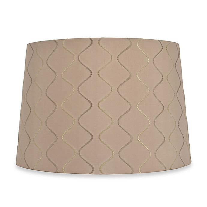 Large 15 Inch Wave Lamp Shade In Taupe Bed Bath Amp Beyond