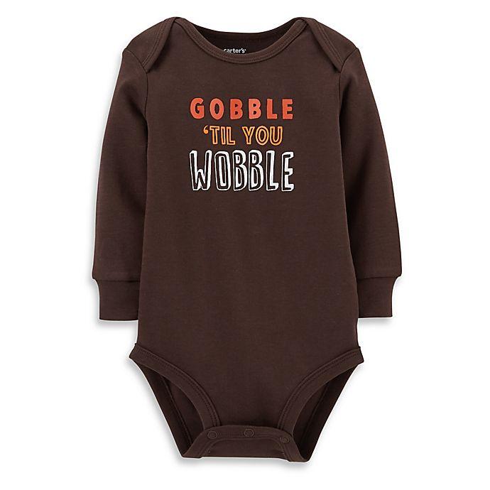 e138aef22 Carter s® Gobble  Til You Wobble Bodysuit in Brown