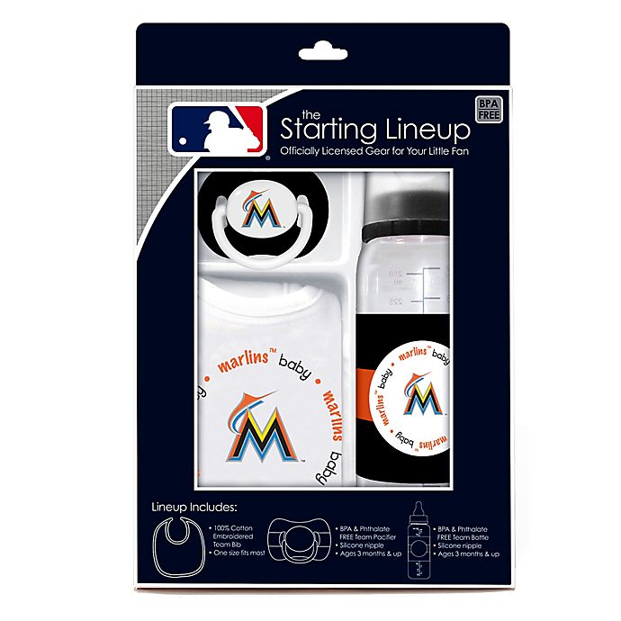 Alternate image 1 for Baby Fanatic® MLB Florida Marlins Baby Essentials Gift Set