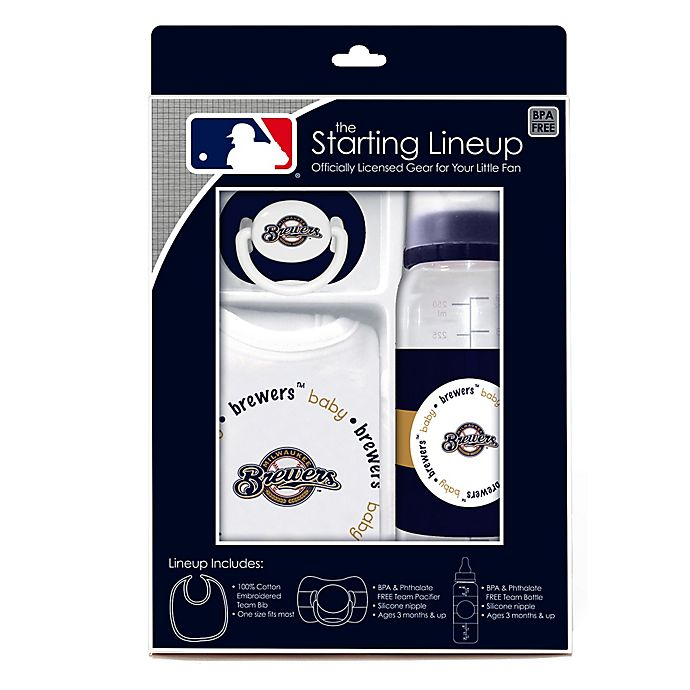 Alternate image 1 for Baby Fanatic® MLB Milwaukee Brewers Baby Essentials Gift Set