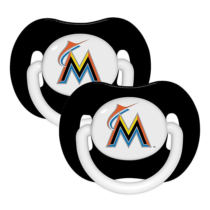 Alternate image 1 for Baby Fanatic® MLB Florida Marlins 2-Pack Pacifiers