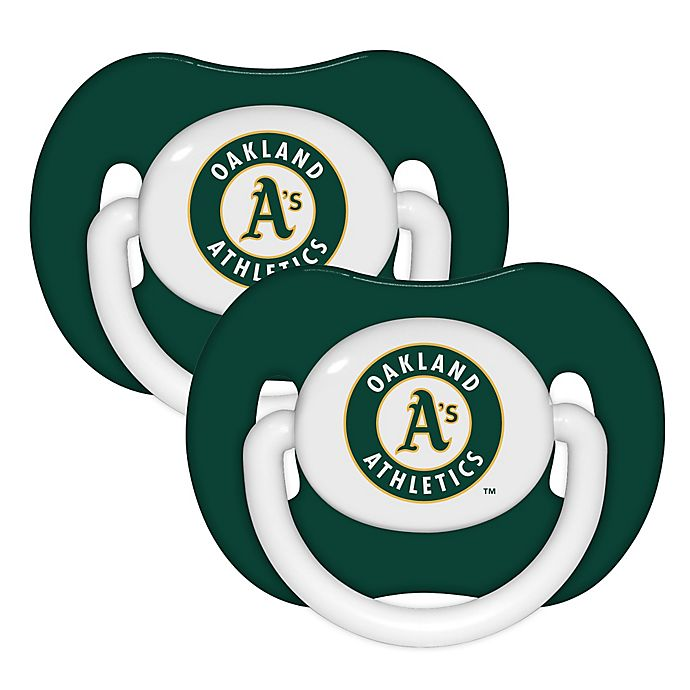 Alternate image 1 for Baby Fanatic® MLB Oakland A's 2-Pack Pacifiers