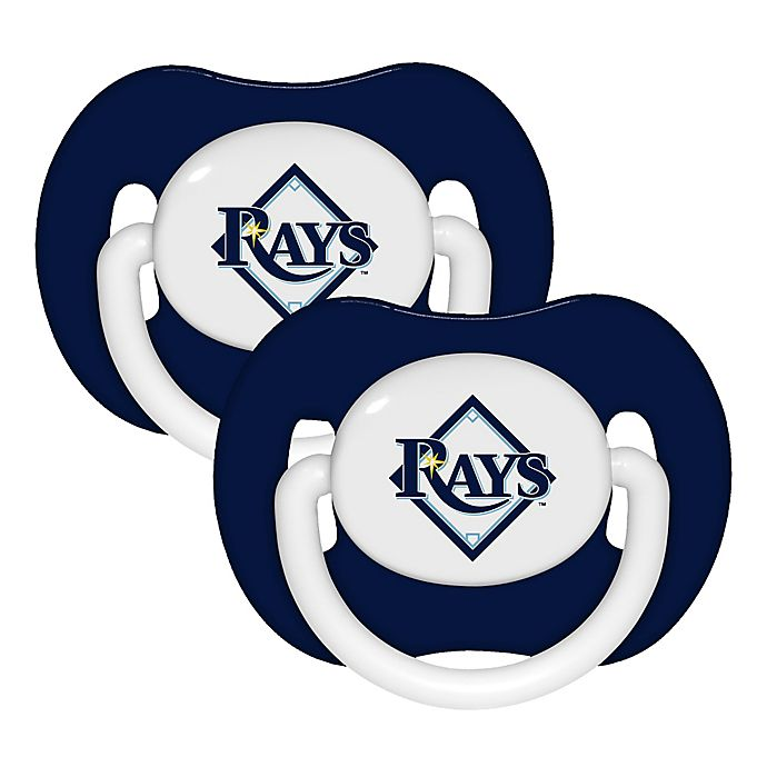 Alternate image 1 for Baby Fanatic® MLB Tampa Bay Rays 2-Pack Pacifiers
