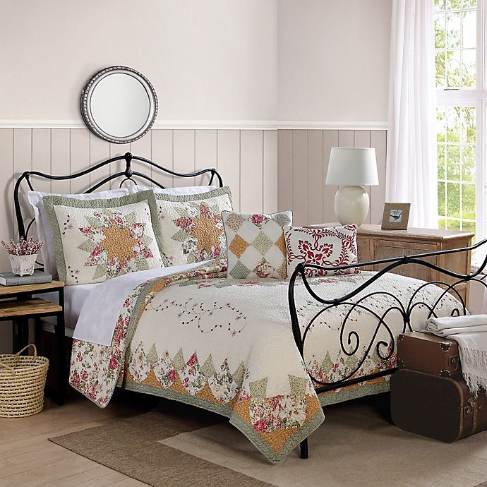 Coraline Reversible Quilt In Peach Bed Bath Beyond