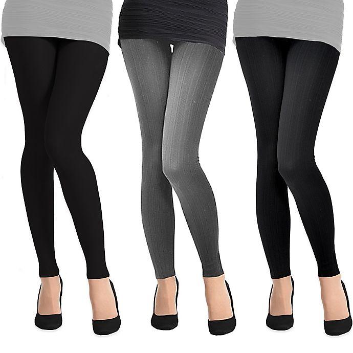 Alternate image 1 for Ladies Fleece Lined Leggings