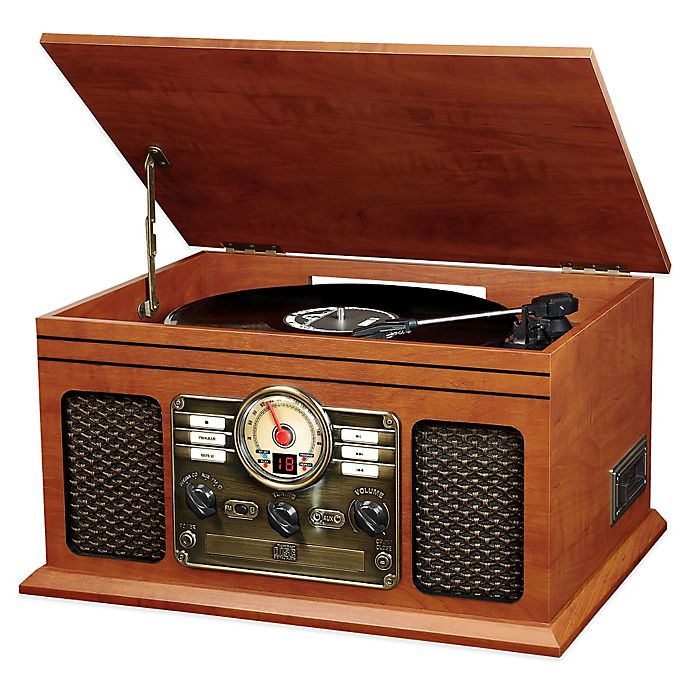 Alternate image 1 for Victrola™ Classic 6-in-1 Turntable with Bluetooth® Speakers in Mahogany