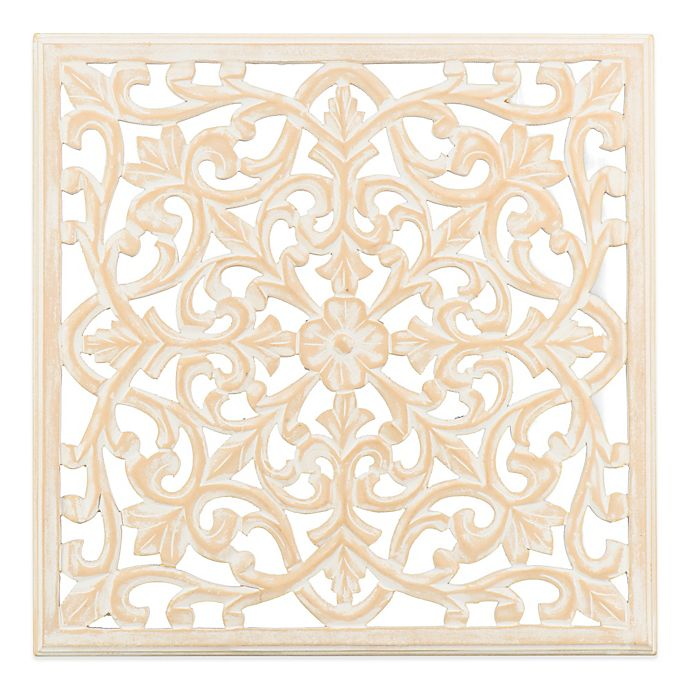 Moroccan Fretwork Panels: Moroccan Inspired 24-Inch Square Decorative Wood Carved