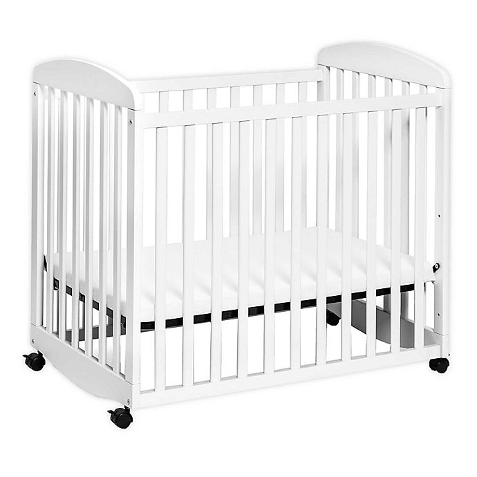 Alternate image 1 for DaVinci Alpha Mini Rocking Crib in White