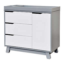 Babyletto Hudson 3-Drawer Changer Dresser in Grey and White