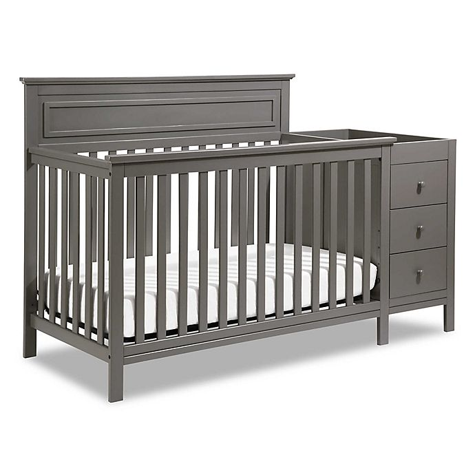 Alternate image 1 for DaVinci Autumn 4-in-1 Crib & Changer Combo in Slate
