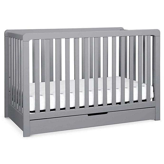 Alternate image 1 for carter's® by DaVinci® Colby 4-in-1 Crib with Drawer in Grey