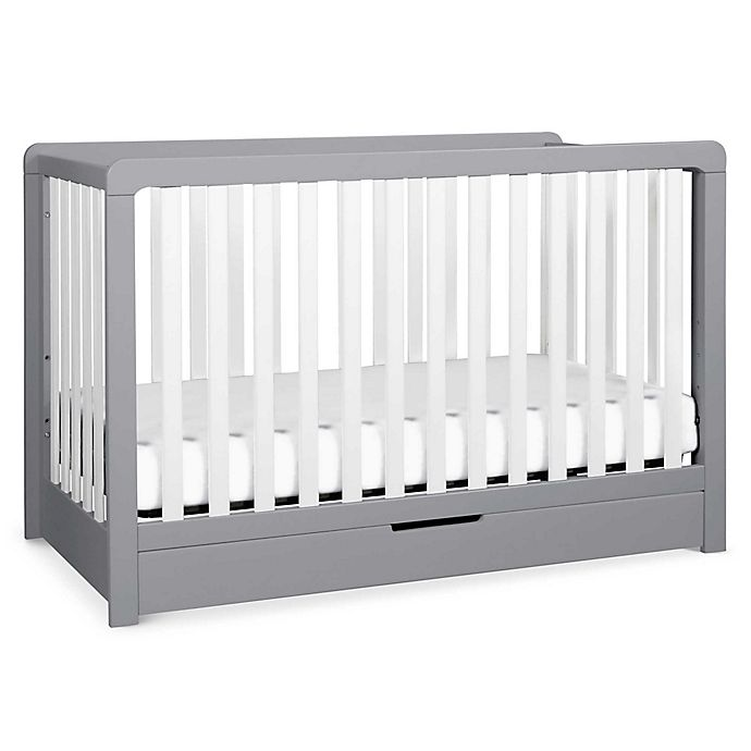 Alternate image 1 for carter's® by DaVinci® Colby 4-in-1 Crib with Drawer in Grey/White