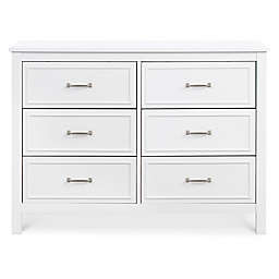 DaVinci Charlie 6-Drawer Double Dresser in White