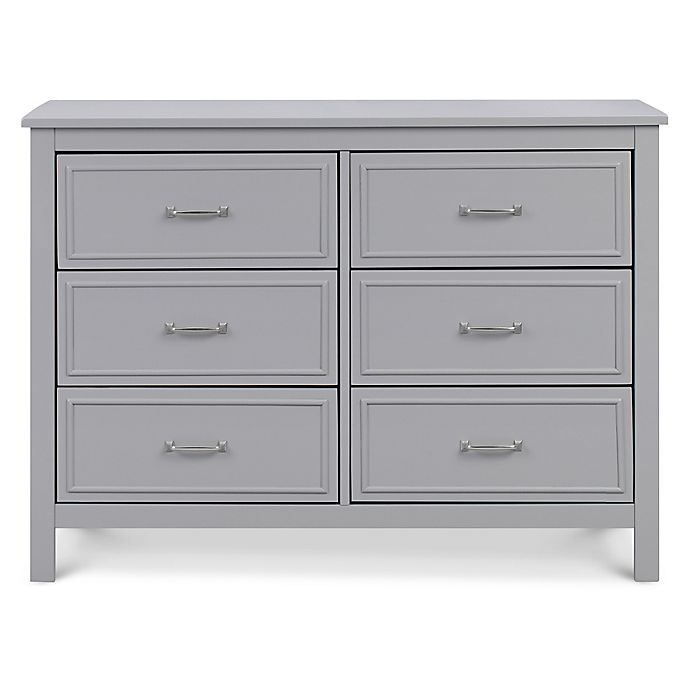 Alternate image 1 for DaVinci Charlie 6-Drawer Double Dresser in Grey