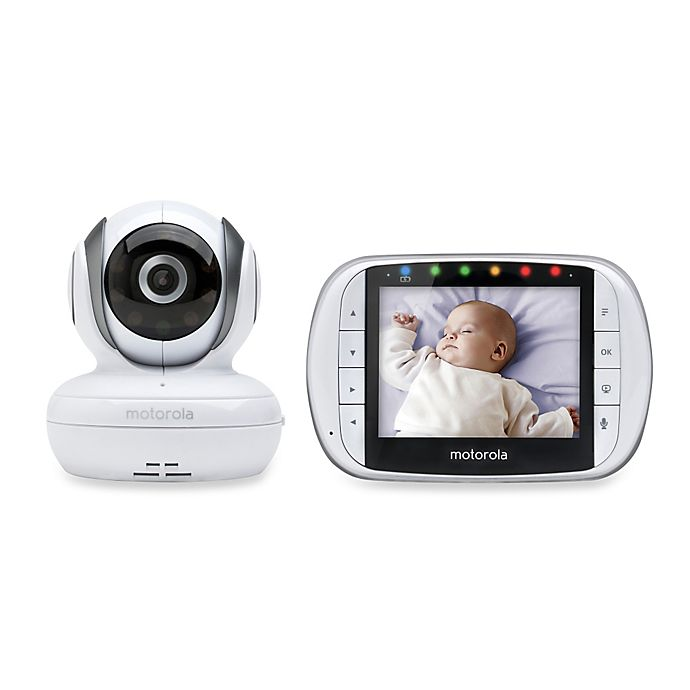 Alternate image 1 for Motorola® MBP36S Wireless Enhanced 2-Way Audio Baby Monitor with 3.5-Inch Digital Screen