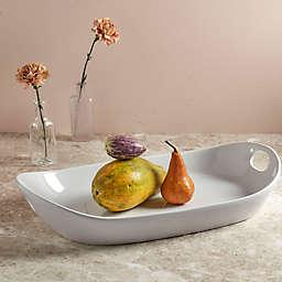 Tabletops Gallery® Large Rectangular Platter in White