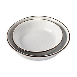 Tabletops Gallery® Geneva Shallow Serving Bowls in Cream (Set of 2)