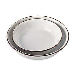 Tabletops Gallery® Geneva Shallow Serving Bowls in Cream (Set of 2)