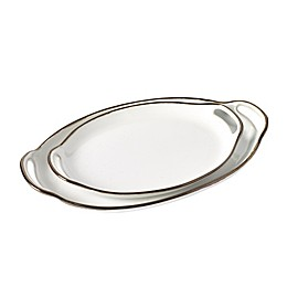 Tabletops Gallery® Geneva Oval Platters in Cream (Set of 2)