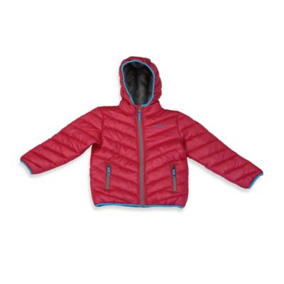 rugged bear faux down puffer jacket in pink buybuy baby. Black Bedroom Furniture Sets. Home Design Ideas