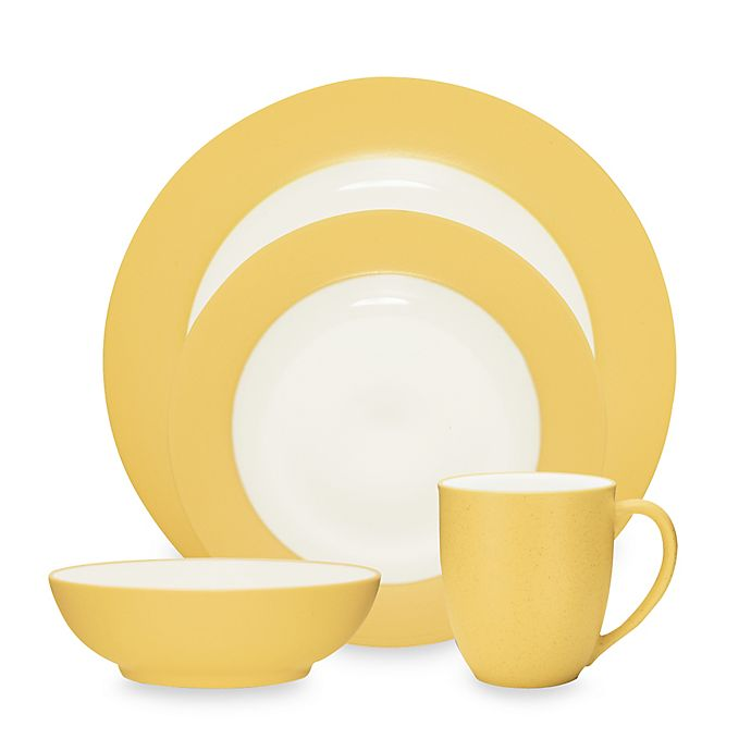 Alternate image 1 for Noritake® Colorwave Rim Dinnerware Collection in Mustard