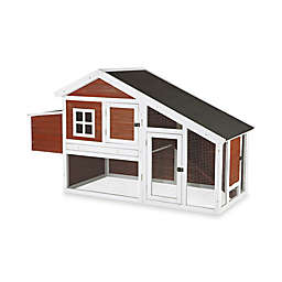 Trixie 2-Story Chicken Coop with a View in Dark Brown/White