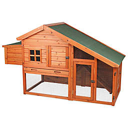 TRIXIE Pet Products 2-Story Chicken Coop with a View in Brown