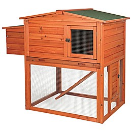 Trixie Natura 2-Story Chicken Coop with Outdoor Run in Brown