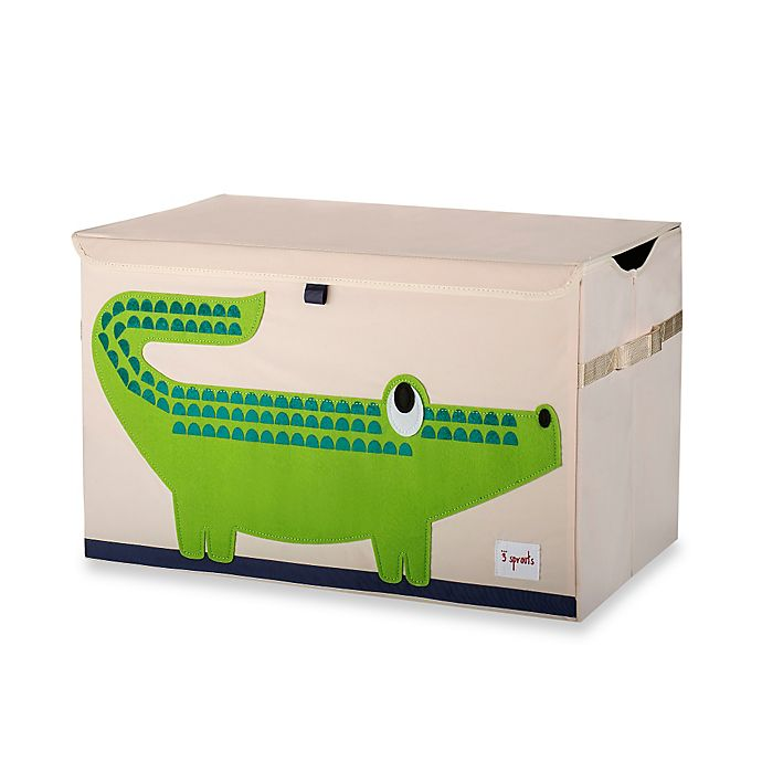 Alternate image 1 for 3 Sprouts Toy Chest in Crocodile