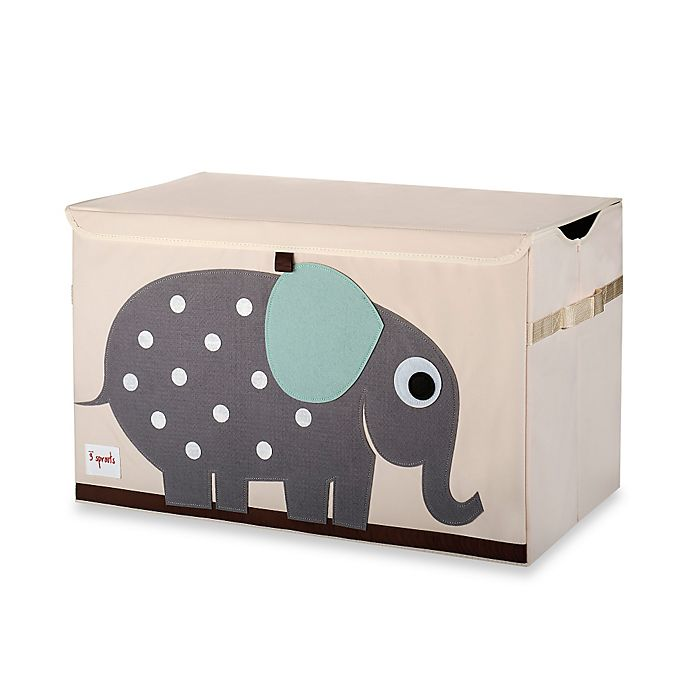 Alternate image 1 for 3 Sprouts Elephant Toy Chest